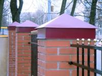 Жестяные изделия, колпаки на забор