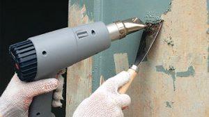 Снятие масляной краски со стен